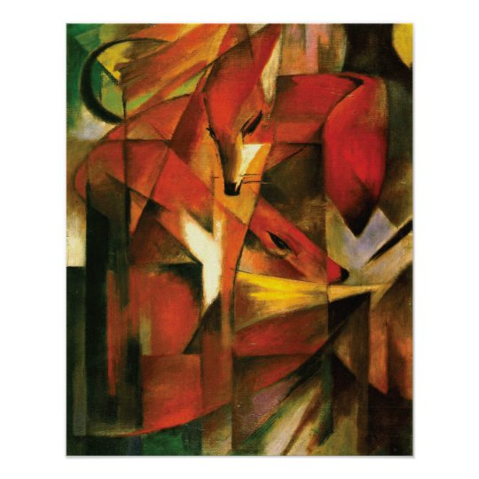 Abstract ~ The Fox by Franz Marc Poster