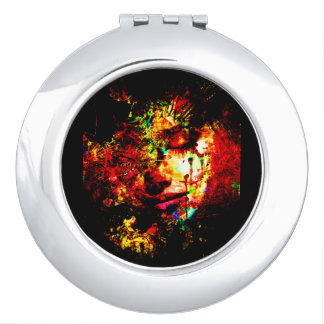 abstract the visage of sorrow compact mirror