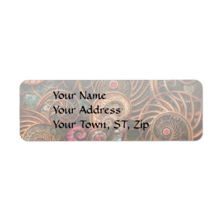 Abstract - The wonders of Sea Return Address Label