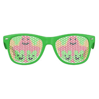 abstract three face pattern kids sunglasses