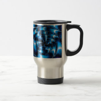 abstract thuesday, blue mug