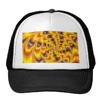 abstract Thuesday red Mesh Hats