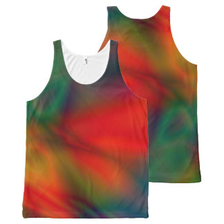 Abstract Tie-dye Art Shirt All-Over Print Tank Top