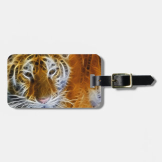 Abstract tiger portrait fractal art luggage tag