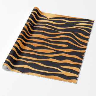 Abstract Tiger Print Wrapping Paper