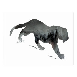 Abstract Tiger silhouette Postcard