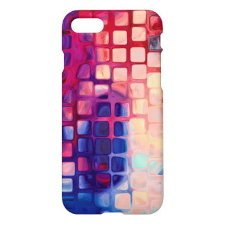 Abstract tiles Red case