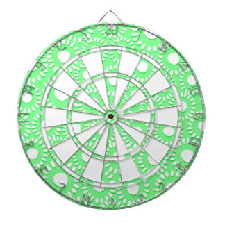 Abstract tiny floral dartboard