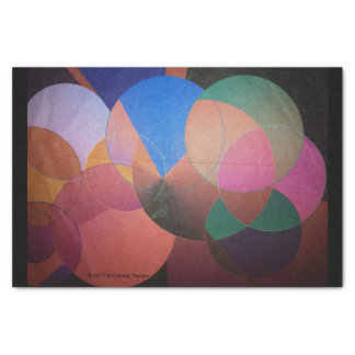 Abstract Tissue Paper Black Trim