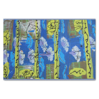 Abstract Tissue Paper in Green and Blue