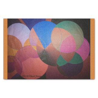 Abstract Tissue Paper Orange Trim