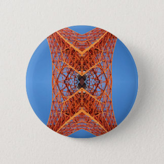 Abstract Tokyo tower pattern 6 Cm Round Badge