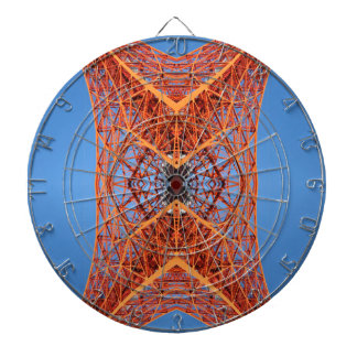 Abstract Tokyo tower pattern Dartboard