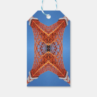 Abstract Tokyo tower pattern Gift Tags