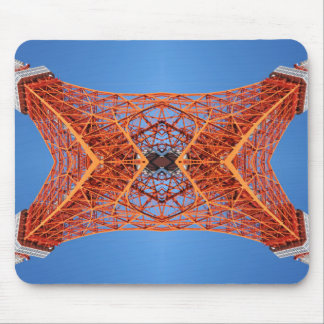 Abstract Tokyo tower pattern Mouse Mat