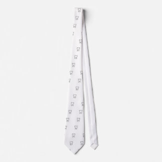 Abstract tooth graphic tie