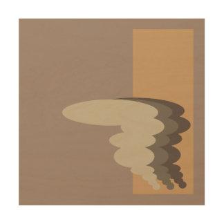 Abstract Tornado Design Wood Print