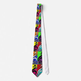 Abstract Treble Clef Tie