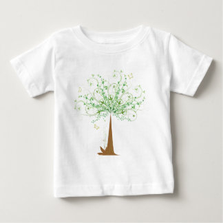 Abstract Tree and Butterflies Baby T-Shirt