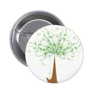 Abstract Tree and Butterflies Pin
