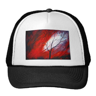 Abstract Tree and Red Sky Cap