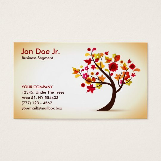 Abstract tree business card