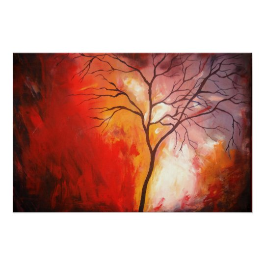 Abstract Tree Canvas Painting Art Print