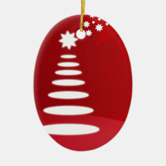 Abstract Tree Christmas Ornament