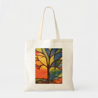 Abstract Tree, Colourful Stained Glass Effect