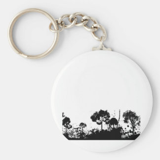 abstract tree gothic basic round button key ring
