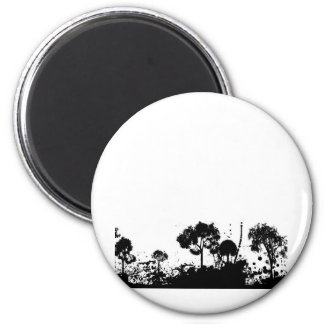 abstract tree gothic magnet