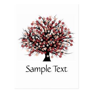 Abstract Tree Hugger Postcard Post Card