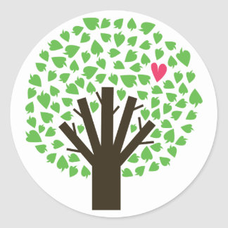 Abstract Tree Hugger Round Sticker