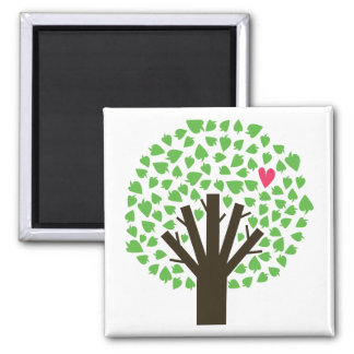 Abstract Tree Hugger Square Magnet