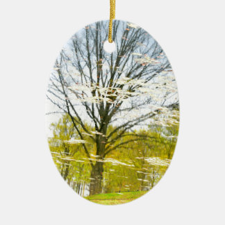 Abstract tree in autumn christmas ornament