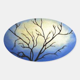 Abstract Tree - Modern Art Oval Sticker