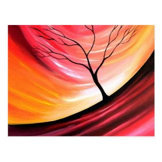 Abstract Tree - Modern Art Postcard