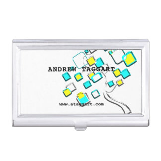 Abstract Tree of figures m Business Card Holder
