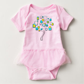 Abstract Tree of figures metal Baby Bodysuit