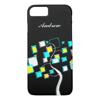 Abstract Tree of figures metal iPhone 8/7 Case