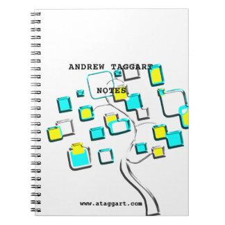 Abstract Tree of figures metal Notebook