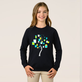 Abstract Tree of figures metal Sweatshirt