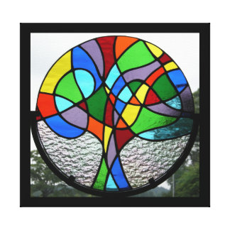 Abstract Tree of Life (stained glass) Canvas Print