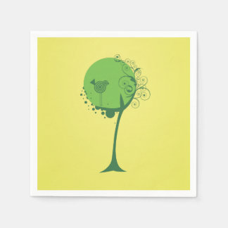 Abstract Tree Paper Napkins