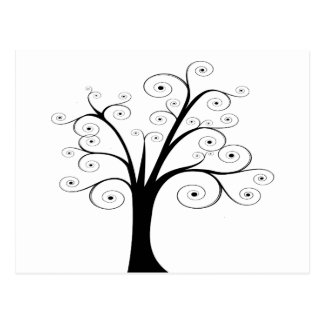 Abstract Tree Postcard