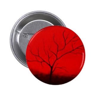 Abstract Tree & Red Sky Original Abstract Art Deco Pin
