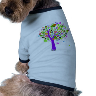 Abstract Tree with Flower Patterns Pet Clothing