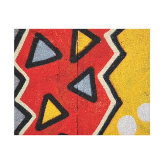 Abstract trendy graffiti close up photographic art canvas