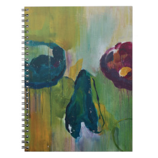 Abstract trendy graffiti close up photographic art note book