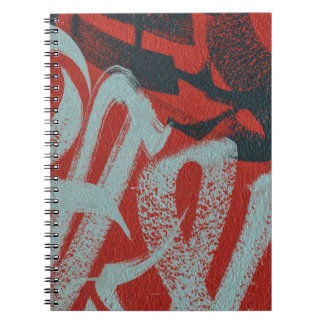 Abstract trendy graffiti close up photographic art spiral note book